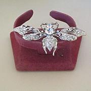 Swarovski Crystal Bug Pin Brooch