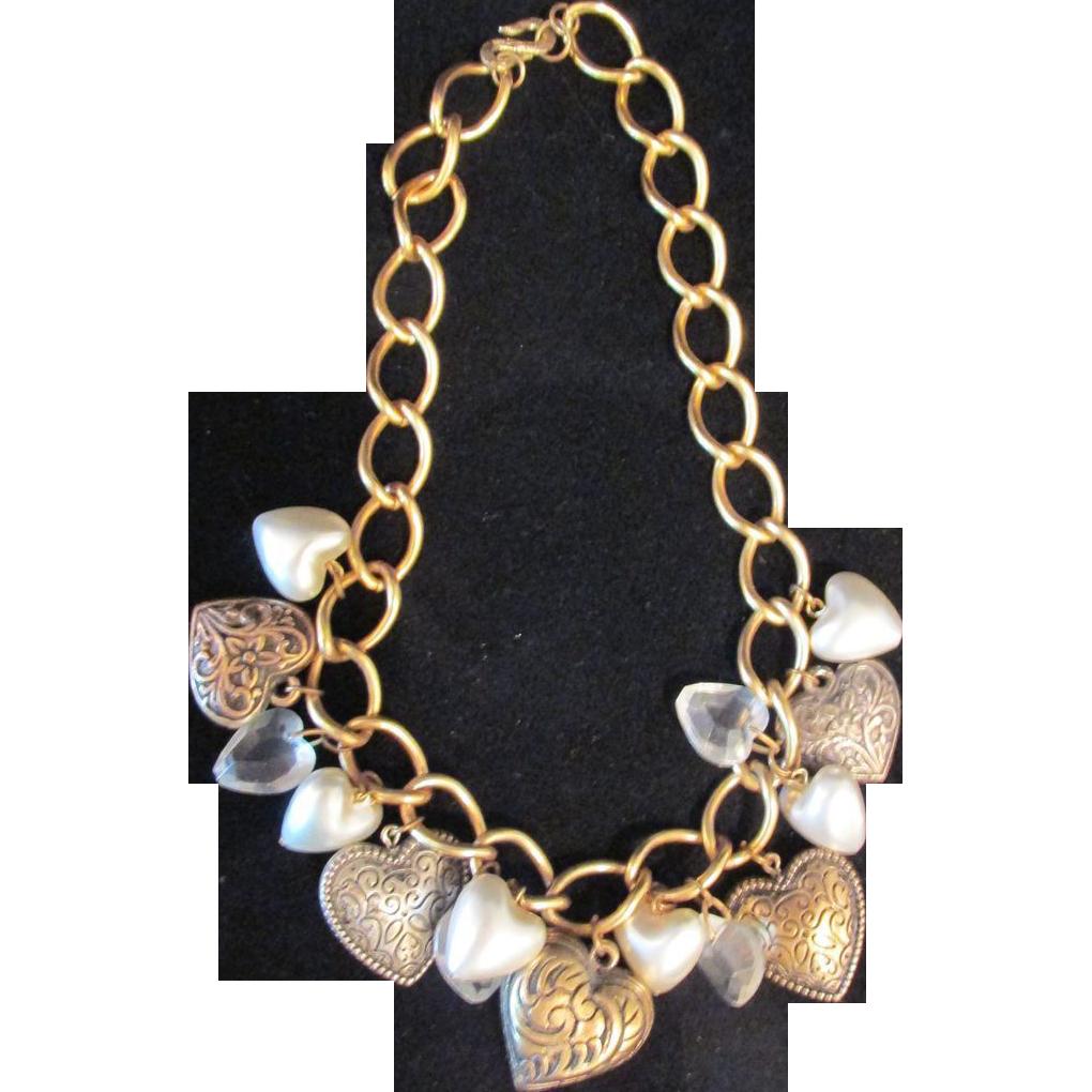 Vintage Multi Heart Necklace