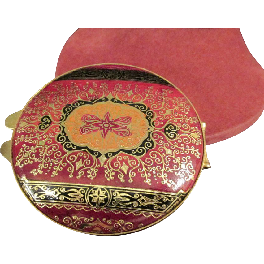 Misuri Florence Italy Leather Compact or Pill Box