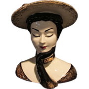 "Lefton Lady Head Vase 7"""