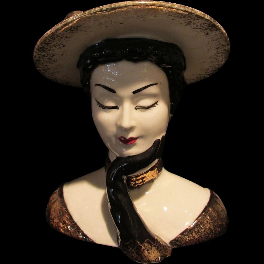 Lefton Lady Head Vase 7 Sold Ruby Lane