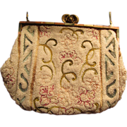 Micro Beaded Vintage Purse Handbag Inlay Frame