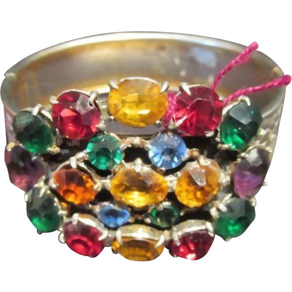 Fabulous Multi Color Bangle Bracelet Vintage Jewelry