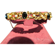 Fabulous Vintage Florenza Bangle Bracelet with Stones