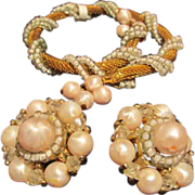 Vintage Coro Bracelet & Earrings