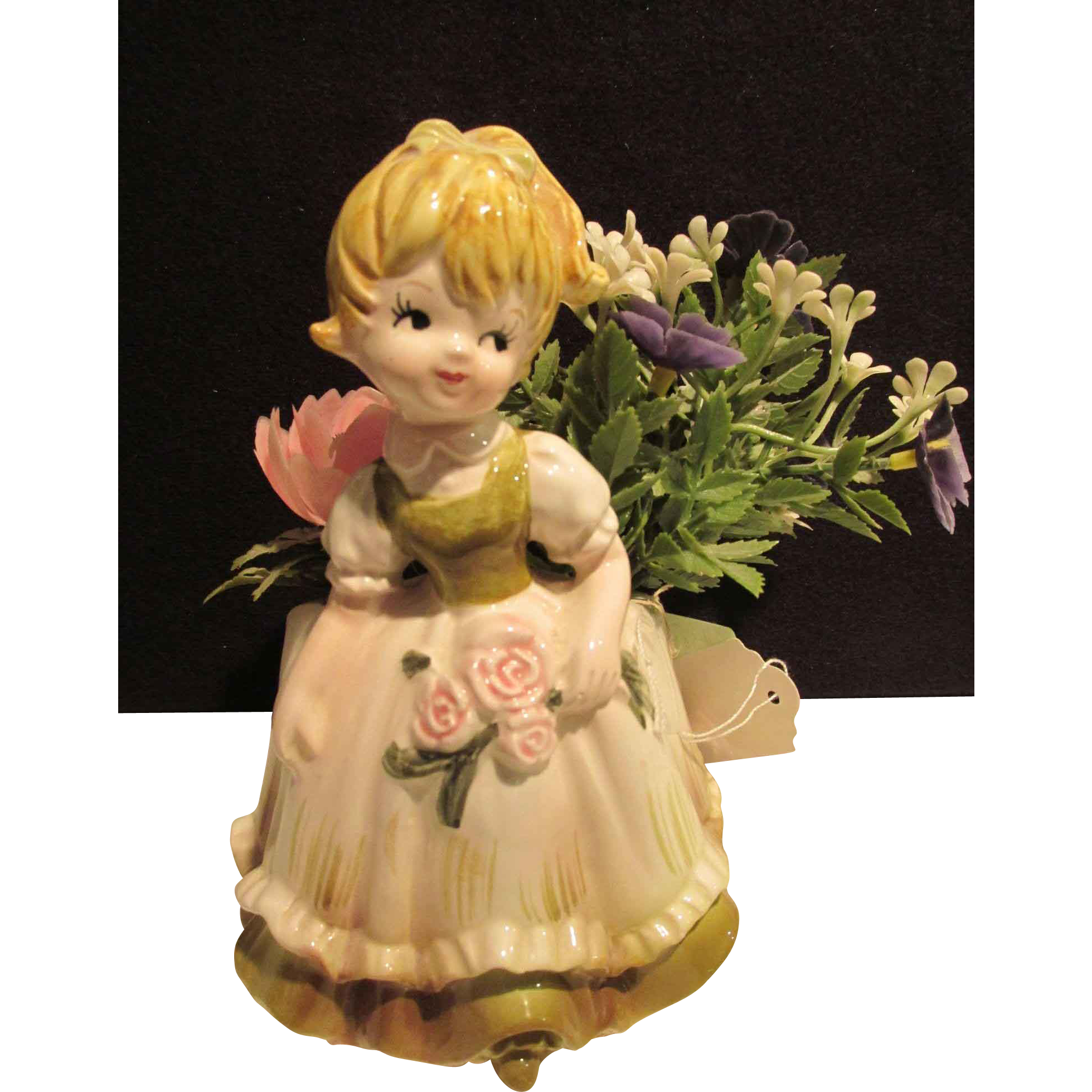 Little Girl Flower Vase Japan - Head Vase