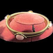 Vintage Bracelet with Oval Cabochon Stones