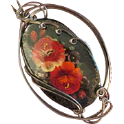 Handmade Signed Brooch Russia set in FABULOUS Pendant Setting