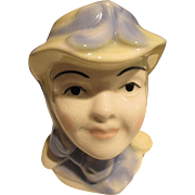 Cute Little Lady Head Vase