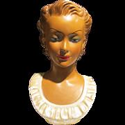 Large 1940's Head Vase