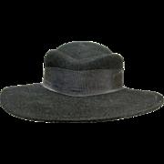 Ladies Black Wool Hat w/ Brim