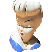 Glamour Girl Head Vase 4""