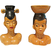 Rare Salt & Pepper Couple Man & Lady