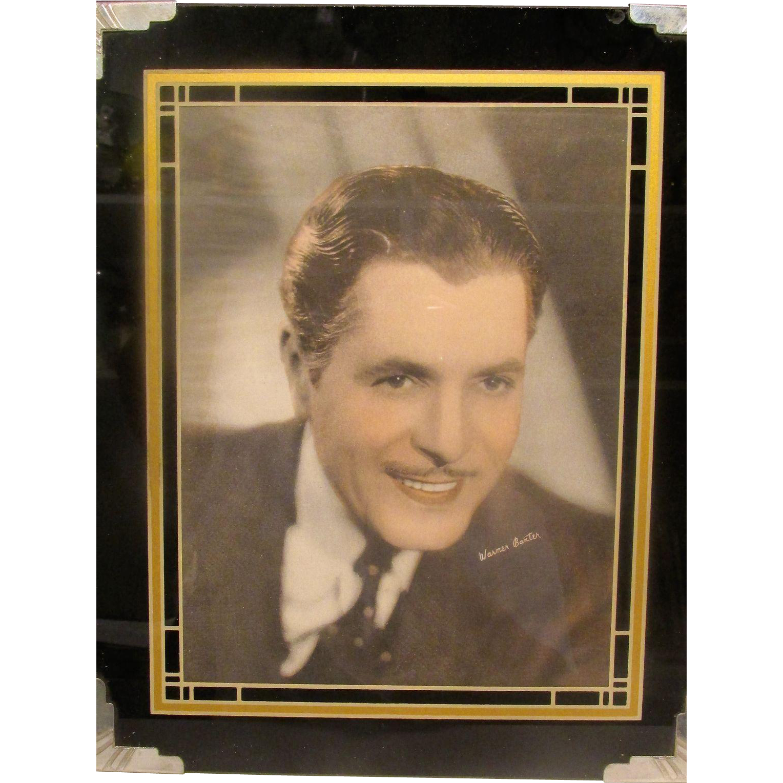 Reverse Painted Frame w/ Warner Baxter