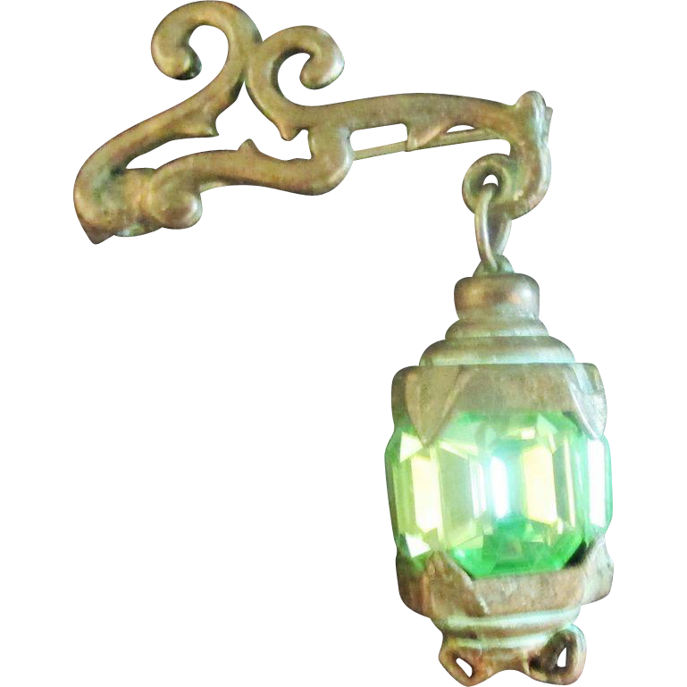 Lantern Charm Brooch Pin