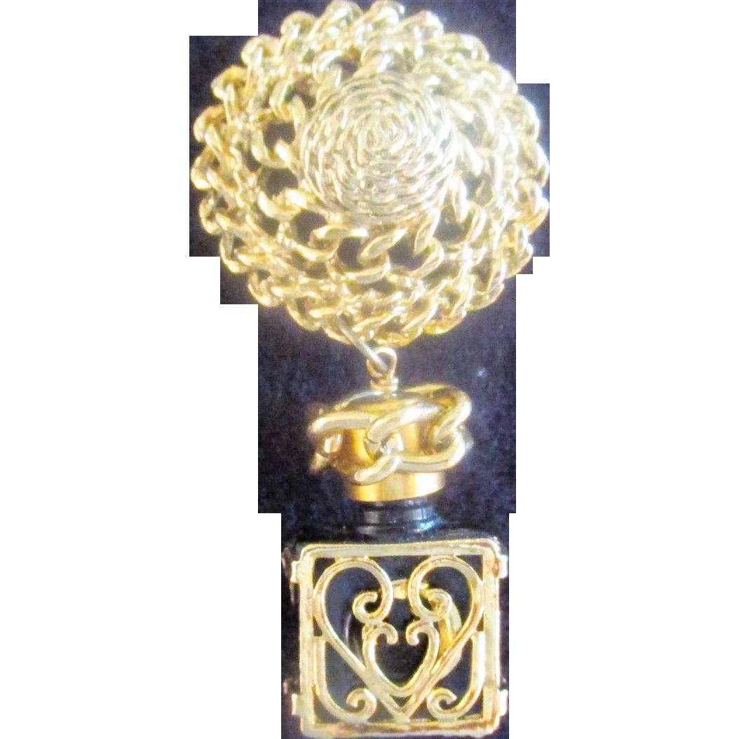 Perfume bottle Charm Brooch Pin