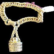 Miniature Perfume Bottle Charm Bracelet