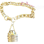 Miniature Perfume Bottle Charm Bracelet