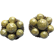Vintage Robert' Faux Pearl Earrings