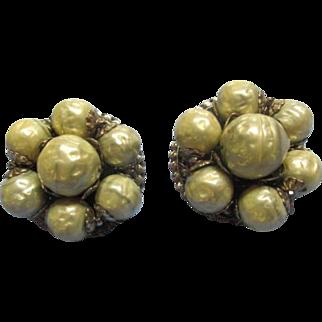 Vintage Robert' Faux Pearl Earrings