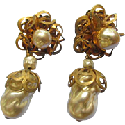Miriam Haskell Vintage Dangle Earrings