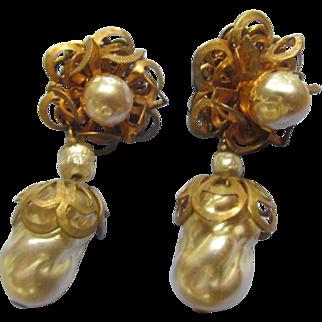 Miriam Haskell Vintage Dangle Earrings
