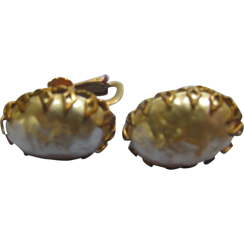 Miriam Haskell Vintage Earrings Oval
