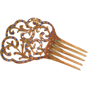 Vintage Deco Hair Ornament Rhinestones
