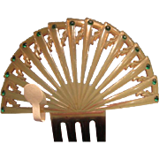 Vintage Hair Ornament Fan Deco Shape