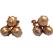 Miriam Haskell Vintage Earrings Pearls