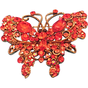 Swarovski Butterfly Red Stones