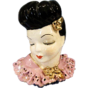 Lady Head Vase Glamour Girl