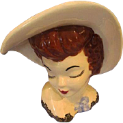Head Vase Lady Vintage Glamour Girl