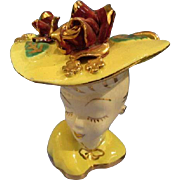 Lady Head Vase Glamour Girl