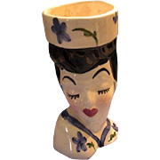 Deco Lady Lady Head Vase
