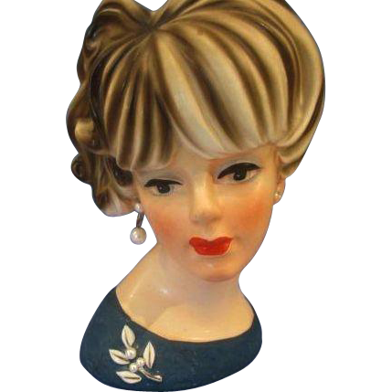 Lady Head Vase Napcoware 7.5""