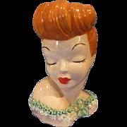 Head Vase Lady Vintage Glamour Girl