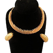 Vintage Estate Set of Goldtone Necklace and Earring St