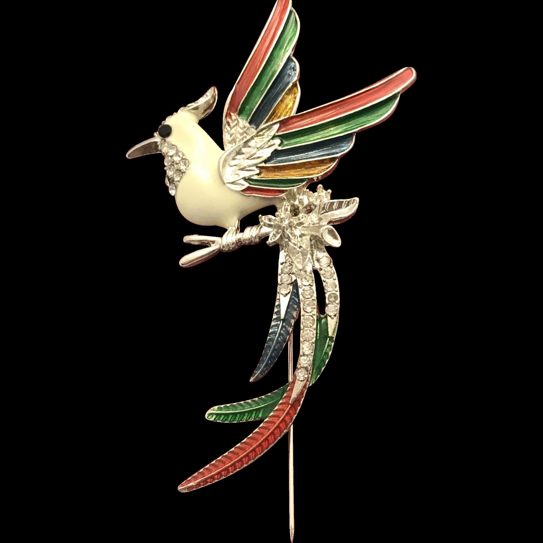 Vintage Swarovski Bird of Paradise Brooch