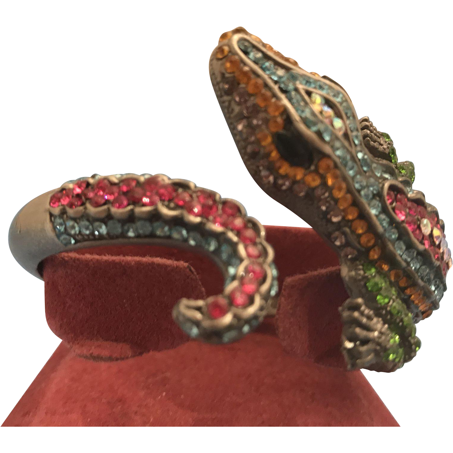 Swarovski Crystal Alligator Bangle Bracelet