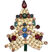 Christmas Tree Pin Anthony Attruia Crystals