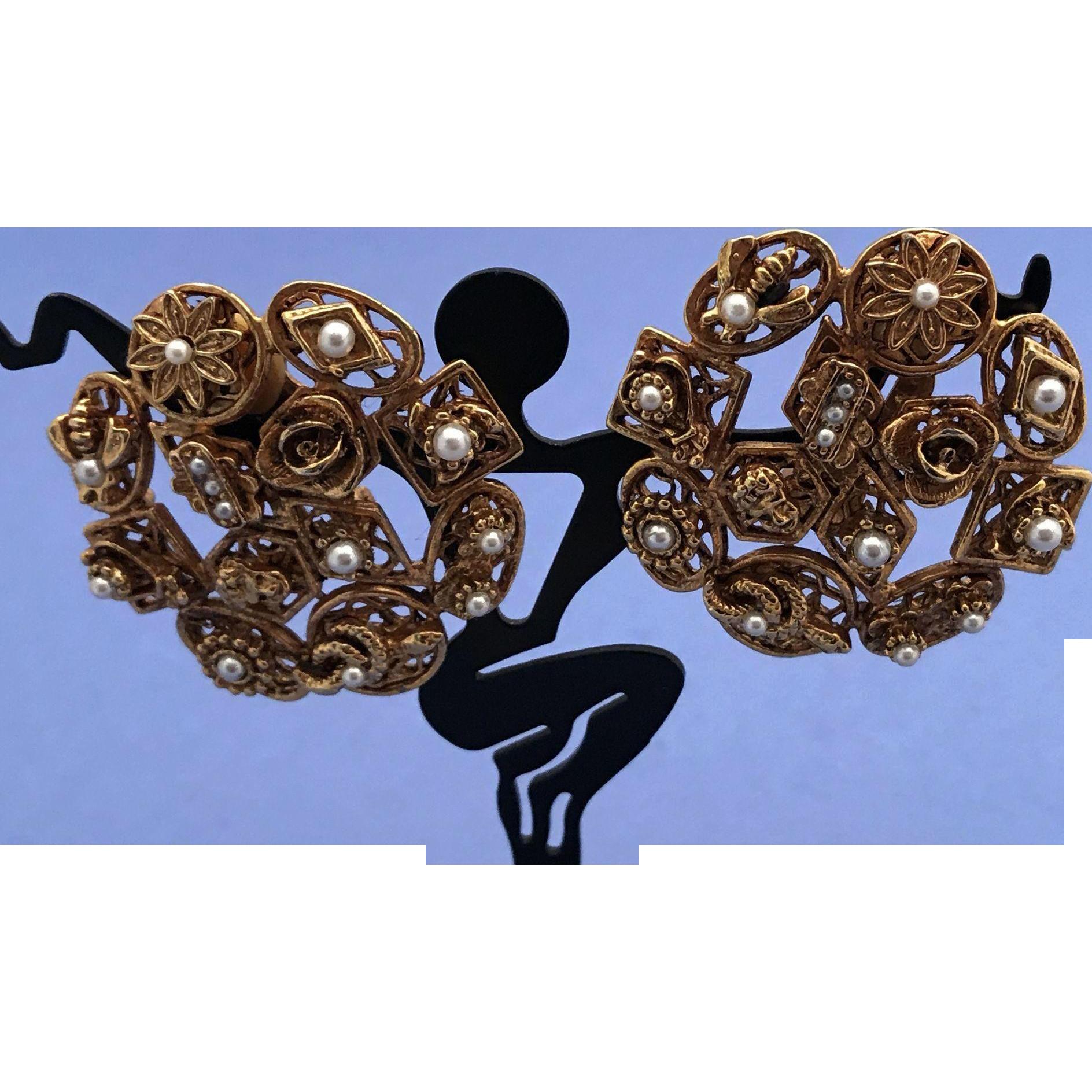 Vintage Slide Charms Earrings Jewelry