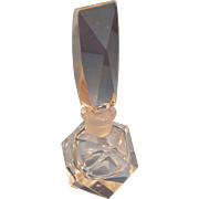 Vintage Art Deco Style Faceted Clear Perfume Bottle