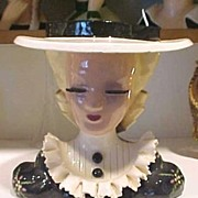 Head Vase Betty Lou Nichols Mary Lou Puffy Sleeves