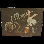 Vintage Magicians Trick Box With Rabbit