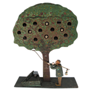 Antique Folk Art Apple Tree Shooting Target
