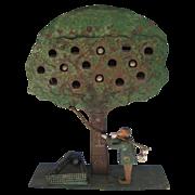 Antique Folk Art Apple Tree Shooting Target