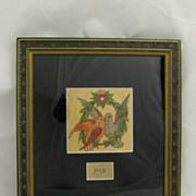 Vintage Folk Art Americana Original Tattoo Flash Art Love Birds