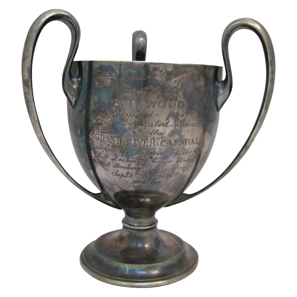 Antique Canoe Trophy West Roxbury, MA 1906