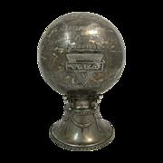 Vintage Basketball Silver Plate Trophy